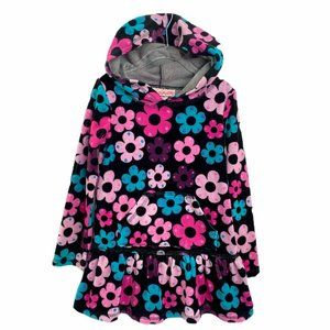 Flapdoodles Daisy Hooded Velour Girls DressSize 5